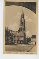 BEAUNE LA ROLANDE - Place Du Marché Et L'Eglise - Beaune-la-Rolande