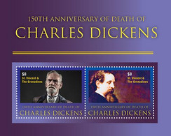 St.Vincent 2020  Charles Dickens I202104 - Marshall Islands