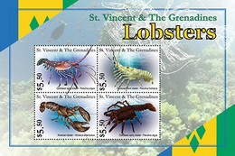 St.Vincent 2020 Fauna Lobsters  I202104 - Marshall Islands