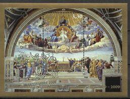 "2009 Vatikan Mi. Bl. 33 FD-used   500 Jahre Fresko ""Disputation Des Allerheiligsten Altarsakraments"" - Used Stamps"