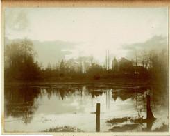 2 Photos Collées Sur Carton, Grammont, Château De Goefferdingen (Goeferdinge), Famille Van Der Linden, Les étangs + Ch. - Geraardsbergen