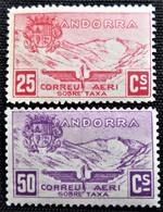 Timbres D'Andorra Non émis De1932 N° 13 Et 14 Neuf Sans Trace  De Charnière - Unused Stamps