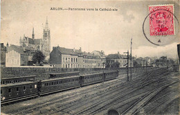 Belgique - Arlon - Panorama De La Gare Vers La Cathédrale - Arlon