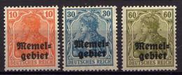 Memel (Klaipeda) 1920 Mi 14-16 * [280521IV] - Memel (Klaïpeda)