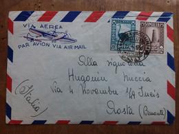SOMALIA AFIS 1950 - Aerogramma Affrancato Con 65c. - Spedito In Italia (taglio In Alto A Destra) + Spese Postali - Somalië (AFIS)