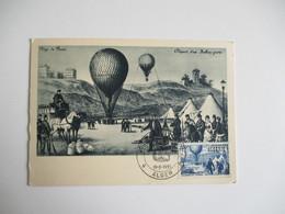 1955 Cm Carte Maximum  Journee Du Timbre Alger Ballon  Carte Maximum - 1950-59