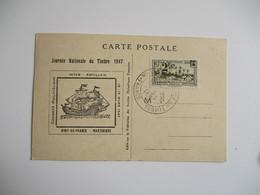 1947  Cm Carte Maximum  Journee Du Timbre Fort De France Carte Maximum - 1940-49