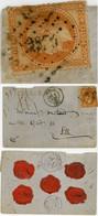 PCGC OISE ENV 1870 SENLIS PCGC 3374 SUR 40C LAURE / LETTRE CHARGEE PETITE LETTRE PLAISANTE - 1849-1876: Klassik