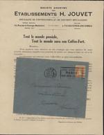 YT 158 Semeuse Camée 5c Orange Oblitération Mécanique Paris Départ 19 3 24 Flamme Jeux  Olympiques Paris Pub Coffre Fort - Mechanical Postmarks (Advertisement)