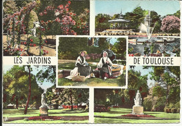 Les Beaux Jardins De TOULOUSE , Cité Des Violettes Et Des Fleurs , CP ANIMEE - Toulouse