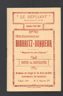 Biarritz (et Bayonne Saint Jean De Luz, Hendaye)  Lot De 2 Horaires:TRAINS  Et TRAMWAYS 1927 (PPP29234) - Europe