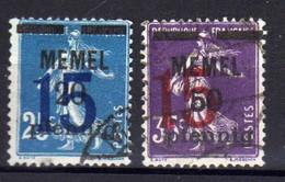 Memel 1921 Mi 47-48, Gestempelt [280521IV] - Klaipeda