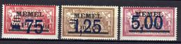 Memel (Klaipeda) 1922 Mi 49-51 * [280521IV] - Klaipeda