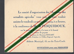 Bordeaux (33 Gironde)  Conférence  JOSEPH DE PESQUIDOUX   à L'Athénée Municipal 1929  (PPP29235) - Europa