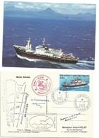 YT 330 Navire Ravitailleur Marion Dufresne - Posté à Bord - Dumont D'Urville - Terre Adélie - 07/02/2003 - Lettres & Documents