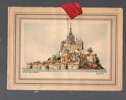 Mont Saint Michel (50 Manche) : Petite Carte De Voeux. Signée Barday (PPP29236) - Europa