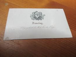 Visitekaartje - Carte Visite - Porseleinkaartje,9.50 Cm X 5.50 Cm,Daveluy, Lithographe Le Roi Du Belges, Kalender 1845 - Cartes De Visite