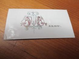 Visitekaartje - Carte Visite - Porseleinkaartje,7.50 Cm X 4. Cm, Malou - Cartes De Visite