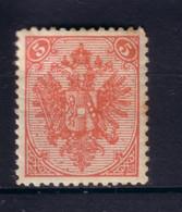 BOSNIEN 1898 5 Kr/ Mi 4II * UNGEBRAUCHT MIT FALZ/ ORIGINALGUMMI - Nuevos