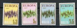 MALTE EUROPA N° Yvert 452/455 ** - Malta