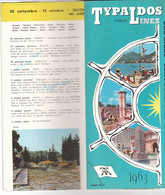 B2268 - Brochure CROCIERE MEDITERRANEO - GRECIA PIREO - TYPALDOS LINES 1963/NAVI AKROPOLIS HELLAS ATHINAI ADRIATIKI - Dépliants Touristiques