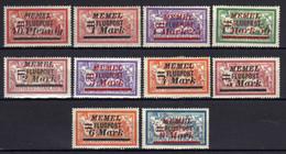 Memel (Klaipeda) 1922 Mi 98-107 *, Flugpost / Air Mail [280521IV] - Memel (Klaïpeda)