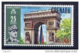 Thème Général De Gaulle - Grenades - Yvert 351 Neuf *** - De Gaulle (Generale)