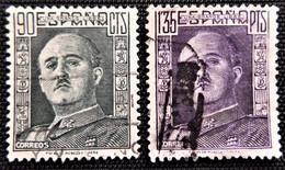 Franco De 1949-53 Edifil N° 1060 Et 1061 - 1951-60 Afgestempeld
