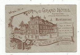 Carte De Visite , GRAND HOTEL , Restaurant , CHATEAU DU LOIR ,Sarthe - Cartes De Visite