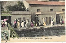 E7 BDR 13 MARSEILLE Grands Bains ROUCAS-BLANC Les Cabines Colorisée 1906 TBE - Endoume, Roucas, Corniche, Spiaggia