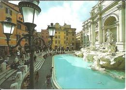 Roma (Lazio) Fontana Di Trevi Vista Di Lato, Trevi's Fountain, Fontaine De Trevi, Der Brunnen Von Trevi - Fontana Di Trevi