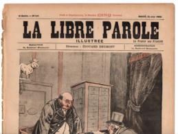 LA LIBRE PAROLE Revue Illustré 1895 Édouard Drumont  Caricature Antisémite - Judaica - Talmud Double Page - Magazines - Before 1900