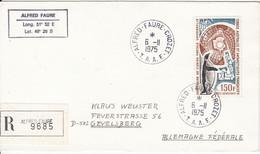 TAAF 1975 UPU Registered Cover Ca Alfred Faure / Crozet 6/11/1975 (52252) - Briefe U. Dokumente