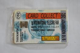 GREECE UNUSED CARD  10/1996 TIRAGE 12 500 CARD COLLECT 96 - Grèce