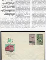 Bahnwesen 1985 Ganzsache U3 ** 10€ Elektrifizierung Bahnhof-Signale Eisenbahn-Spezial-Beleg Ship Train Cover Of Germany - Umschläge - Ungebraucht