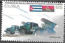 MILITARY, 2020, MNH, MILITARY MISSION IN ANGOLA, 1v - Militaria
