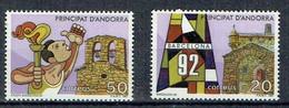 ANDORRE ESPAGNOL1987**Y&T186-187 - Ungebraucht