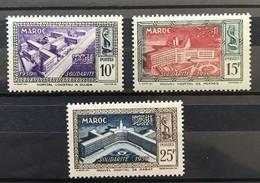 MAROC 1951 - NEUF*/MH - Série Complète YT 302 / 304 - LUXE - Nuovi