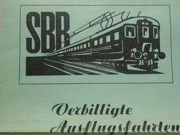 ZA370.12  Tourism Brochure   SBB Bern Hauptbahnhof - Ausflugsfahrten 1947 -Thunersee -Kandersteg - Montreux - Luzern - Europa