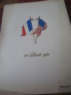 MENU DU BANQUET EN PRESENCE DU MARECHAL FOCH AU PALAIS D'ORSAY -1921 - Menus