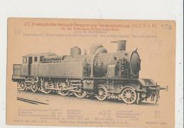 LOCOMOTIVE VIERZYLINDER VERBUND CPA BON ETAT - Trains