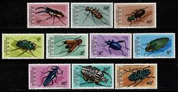 Rép. Congo 1971 OBP/COB 753/62** MNH Kevers / Insectes - Nuovi
