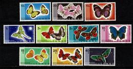 Rép. Congo 1971 OBP/COB 763/72** MNH Vlinders / Papillons - Nuovi