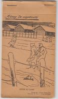 CARNET COMPLET 10 CP DESSINS ANTOINE DE ROUX EXTRAIT JOURNAL CAMP PRISONNIER EDIT LAFFONT 1941 CAPTIVITE - HIVER AU CAMP - Historical Documents