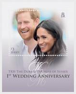 Jersey 2019 MS - TRH The Duke & Duchess Of Sussex - 1st Wedding Anniversary - Jersey