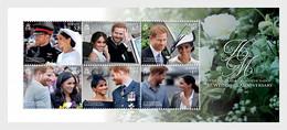 Jersey 2019 MS - TRH The Duke & Duchess Of Sussex - 1st Wedding Anniversary - S/S - Jersey