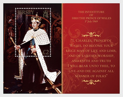 Jersey 2019 MS - The Investiture Of HRH The Prince Of Wales 1st July 1969 50th Anniversary - Jersey