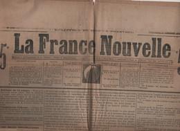 LA FRANCE NOUVELLE 13 10 1876 - SECTES REPUBLICAINES - GAMBETTA - SERBIE - TURQUIE - ABBAYE DE SOLESMES - XAVIER RASPAIL - 1850 - 1899