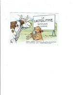 Carte Postale Publicité LA LACTOLITHE Illustration Humoristique Vache Et Veau 933 - Advertising