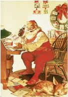 Père Noël à Son Bureau Avec Un Petit Faon Endormi - éditions Coca Cola - Neuve - Pubblicitari